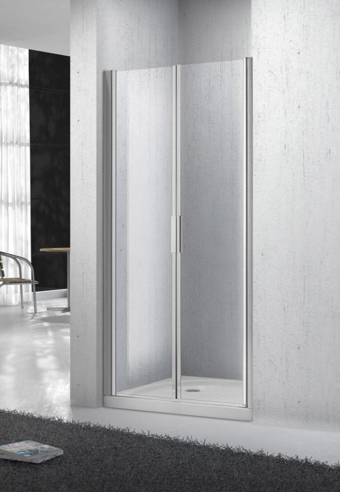 Душевая дверь распашная BelBagno Sela 90 см текстурное стекло SELA-B-2-90-Ch-Cr цена и фото