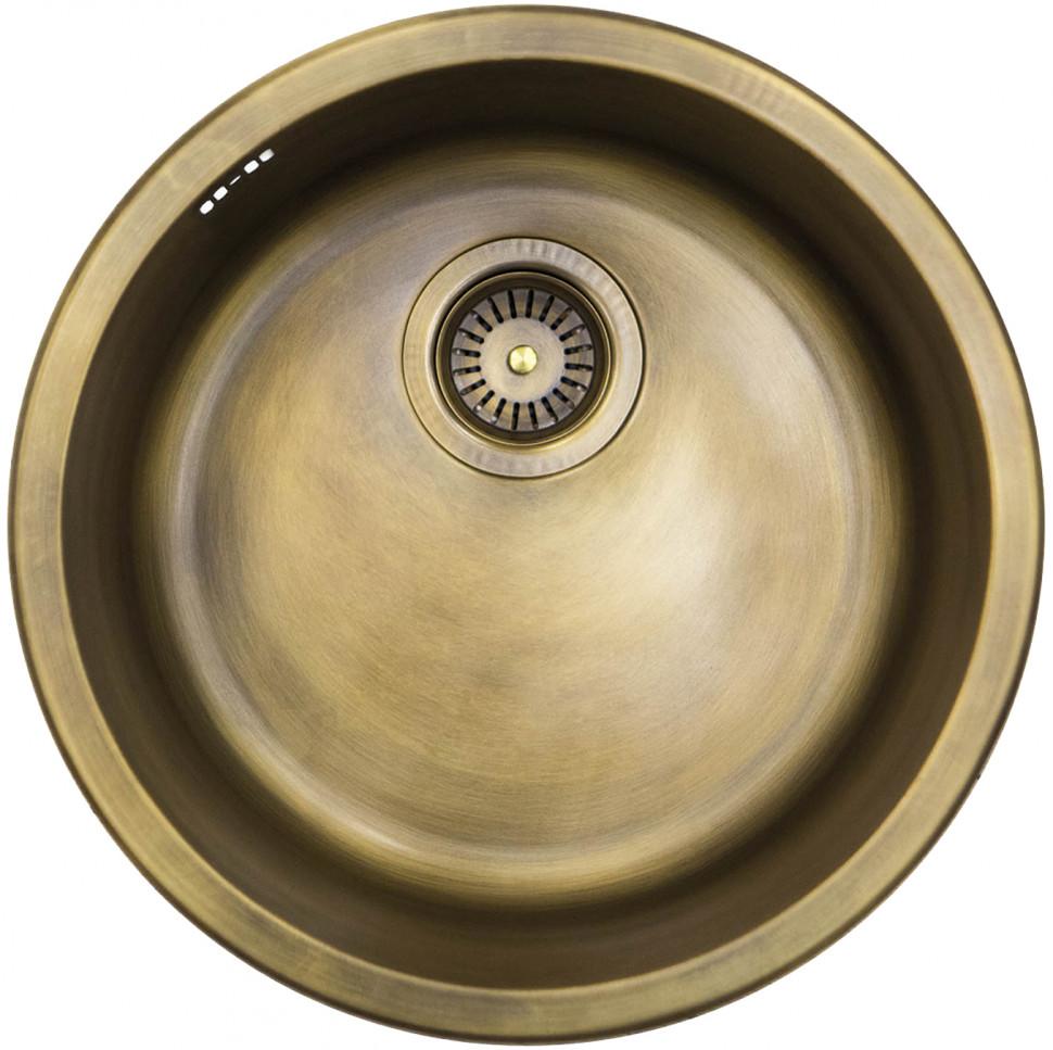 купить Кухонная мойка натуральная латунь Omoikiri Mogami по цене 28888 рублей
