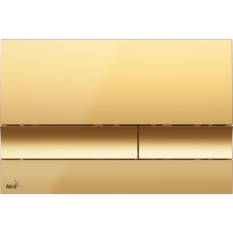 Смывная клавиша золото для двойного смыва AlcaPlast M1725