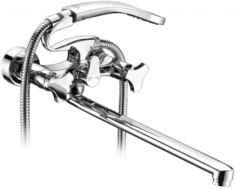 Смеситель для ванны Elghansa New Wave Delta 2707593 2720163 смеситель kimberli 2720163 двухвентильный для ванной хром elghansa