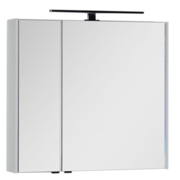 Зеркальный шкаф 80х75 см белый Aquanet Латина 00179635 зеркальный шкаф 90х75 см белый aquanet латина 00179605