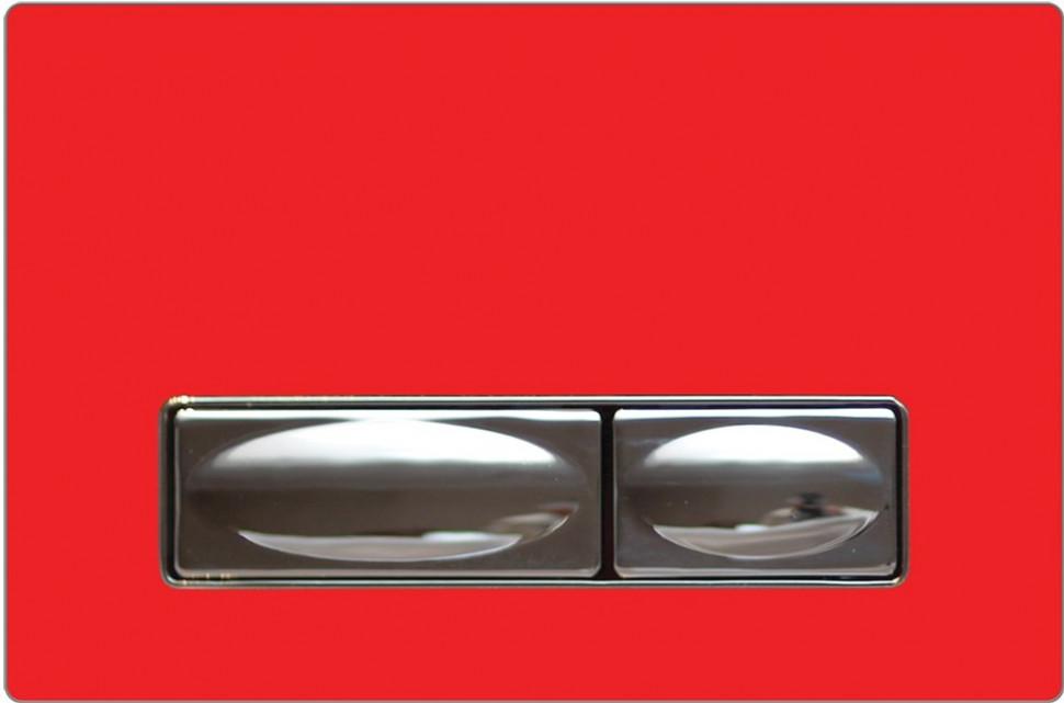 Смывная клавиша красный/хром Creavit Design Ozel GP400300 смывная клавиша двухрежимная глянцевый хром vitra loop r 740 0680