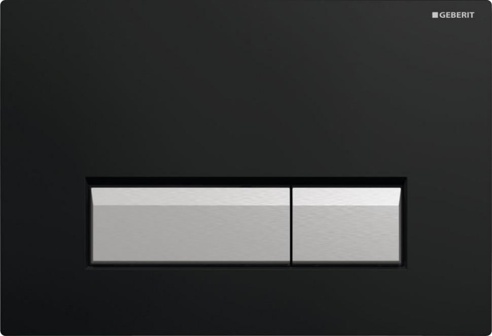 Смывная клавиша Geberit Sigma40 черный/матовый алюминий для двойного смыва со встроенной системой удаления запаха 115.600.KR.1 смывная клавиша белая villeroy