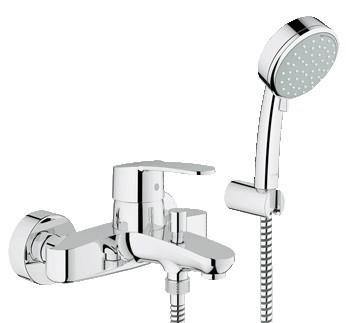 Grohe Eurostyle Cosmopolitan 33592002 Смеситель для ванны с ручным душем Euphoria Champagne смеситель для душа grohe eurostyle new с механизмом 33635003