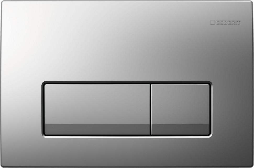 Смывная клавиша Geberit Delta51 матовый хром для двойного смыва 115.105.46.1 цена и фото