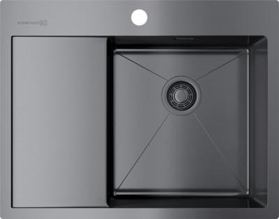 Кухонная мойка вороненая сталь Omoikiri Akisame 65-GM-R