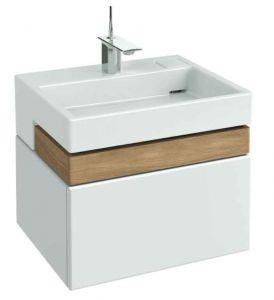 Фото - Тумба белый блестящий 60 см 1 ящик Jacob Delafon Terrace EB1185-G1C раковина для ванной jacob delafon terrace 60х49см на собственной опоре отв для смесителя exe112 00