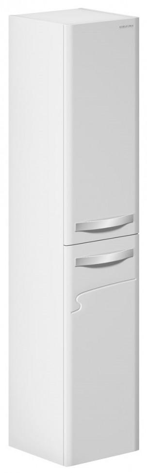 цена на Пенал подвесной с бельевой корзиной белый глянец R Edelform Nota 3-619-00