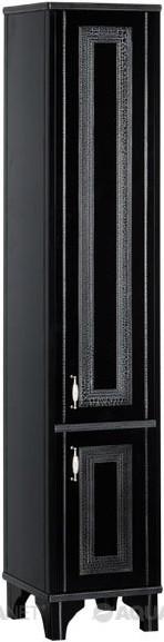 цена на Пенал напольный черый/серебро Aquanet Валенса 00180300