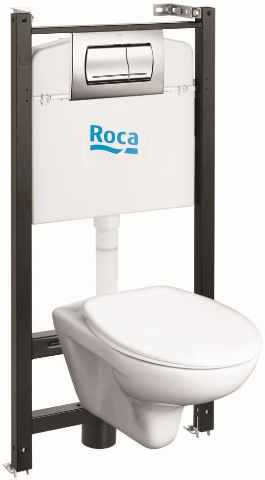 Комплект подвесной унитаз + система инсталляции Roca Mitos L 893100020 унитаз подвесной roca mitos с инсталляцией с клавишей с микролифтом 893100020