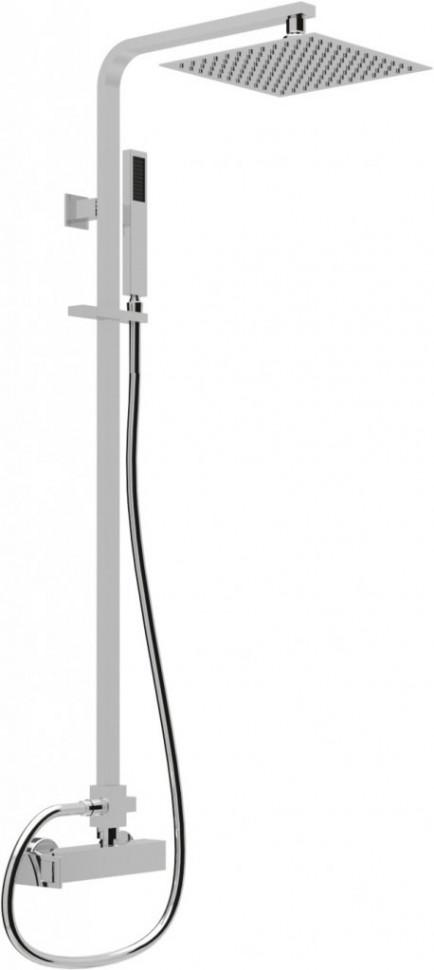 Душевая колонна со смесителем для ручного и верхнего душа хром, ручка хром Cezares Molveno MOLVENO-CD-01-Cr