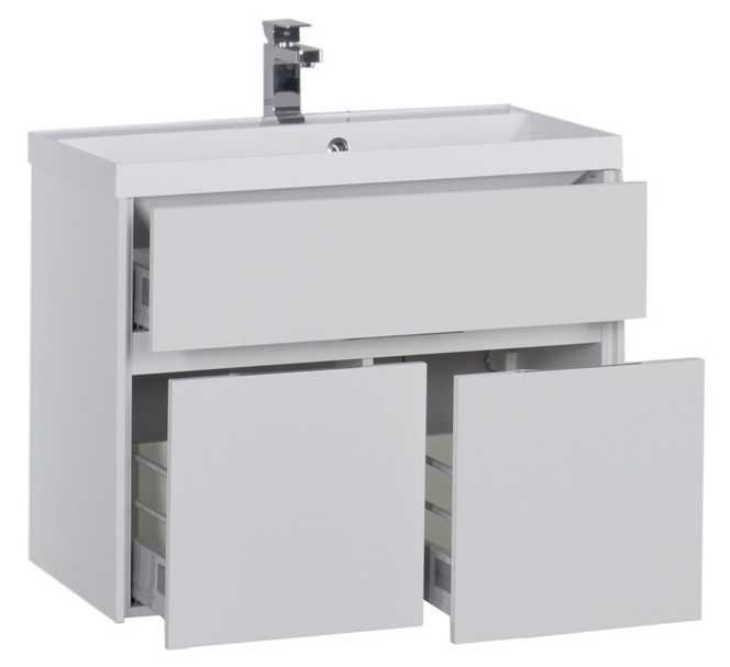 Тумба белый 79 см Aquanet Латина 00179638 зеркальный шкаф 90х75 см белый aquanet латина 00179605