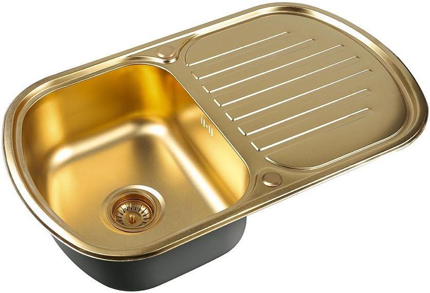 Кухонная мойка Zorg Inox PVD SZR 7749 BRONZE мойка кухонная zorg inox pvd szr 4551 bronze