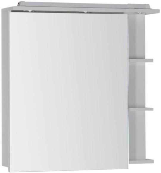 Зеркальный шкаф 80х82 см с подсветкой белый Aquanet Лаконика 00157600