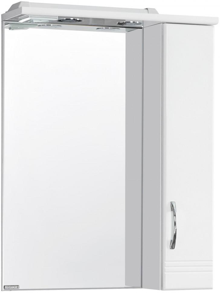 Зеркальный шкаф 58,6х79,8 см белый глянец R Акватон Онда 1A009802ON01R зеркальный шкаф 65х85 см белый глянец r акватон домус 1a166202ll01r