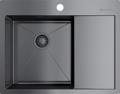 Кухонная мойка вороненая сталь Omoikiri Akisame 65-GM-L