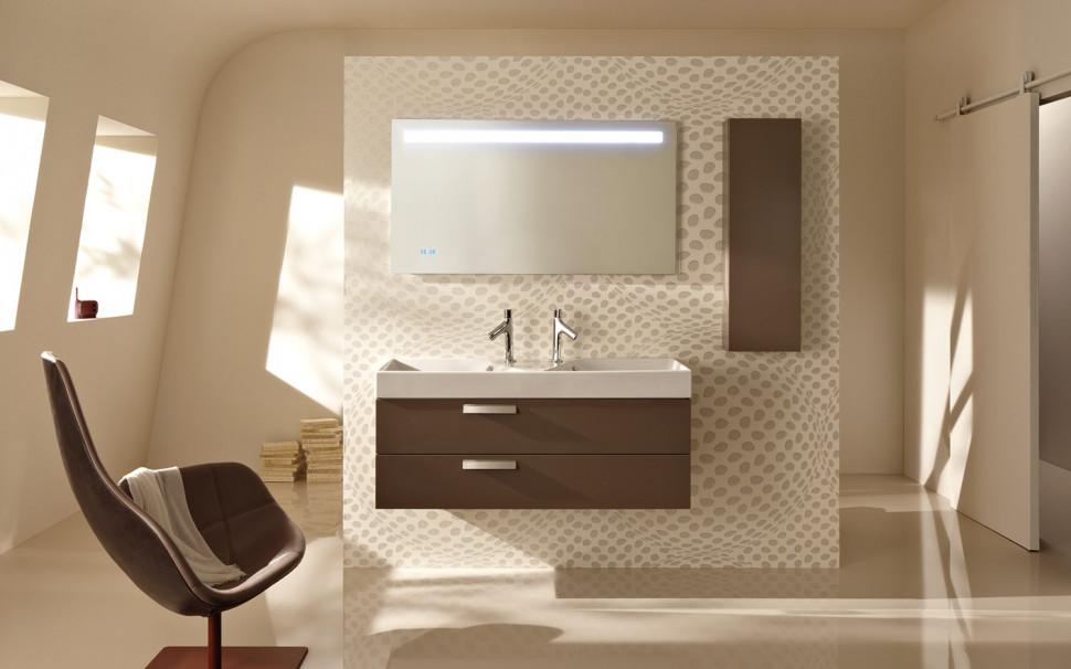Зеркало со светодиодной подсветкой и часами 120*65 см Jacob Delafon Replay EB1163-NF