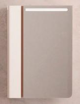 Зеркальный шкаф 59,7х84,9 см темный лен/белый Velvex Crystal Cub zsCUB.60-11.21.27
