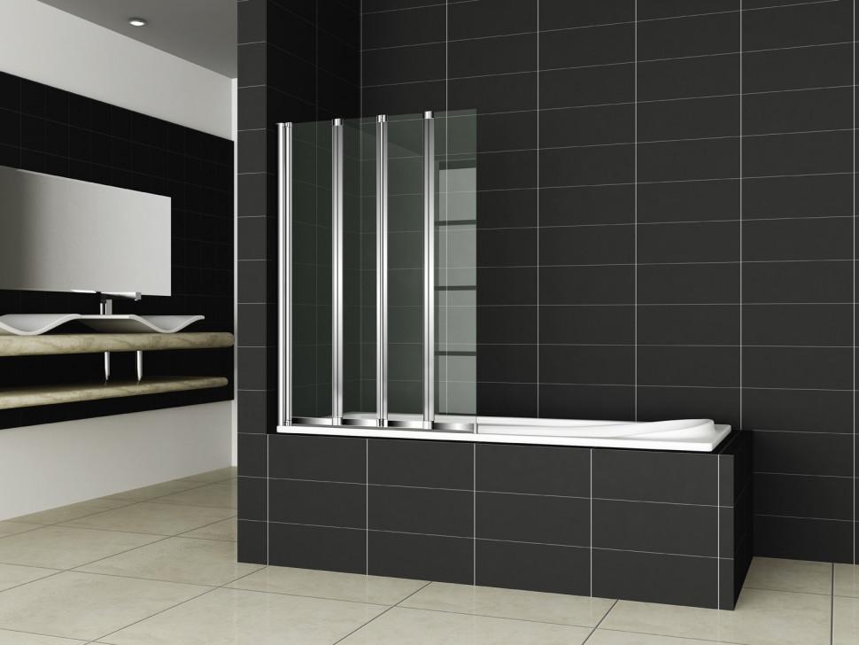 Шторка для ванны Cezares Pratico 100 см текстурное стекло PRATICO-V-4-100/140-P-Cr-L недорого