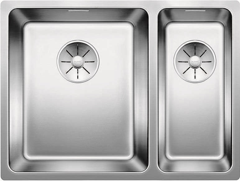 Кухонная мойка Blanco Andano 340/180-U InFino зеркальная полированная сталь 522979 кухонная мойка blanco andano 340 340 u infino зеркальная полированная сталь 522983