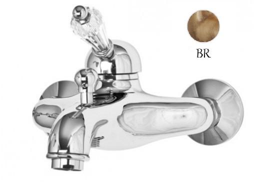 Смеситель для ванны бронза, ручка Swarovski Cezares Vintage VINTAGE-VM-02-Sw