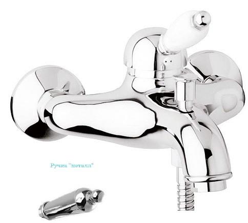 Смеситель для ванны хром, ручка металл Cezares Elite ELITE-VM-01-M