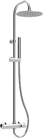 Душевая колонная с термостатическим смесителем, верхним и ручным душем хром, ручка хром Cezares Eco ECO-CD-T-01-Cr cezares смесительcezares eco eco vm 01 cr для ванны с душем