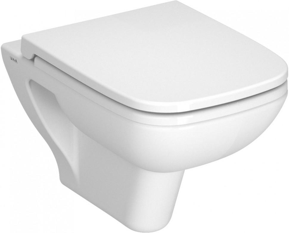 Унитаз подвесной с сиденьем микролифт Vitra S20 5507B003-6066 комплект vitra s20 унитаз с сиденьем микролифт инсталляция кнопка хром 9004b003 7204