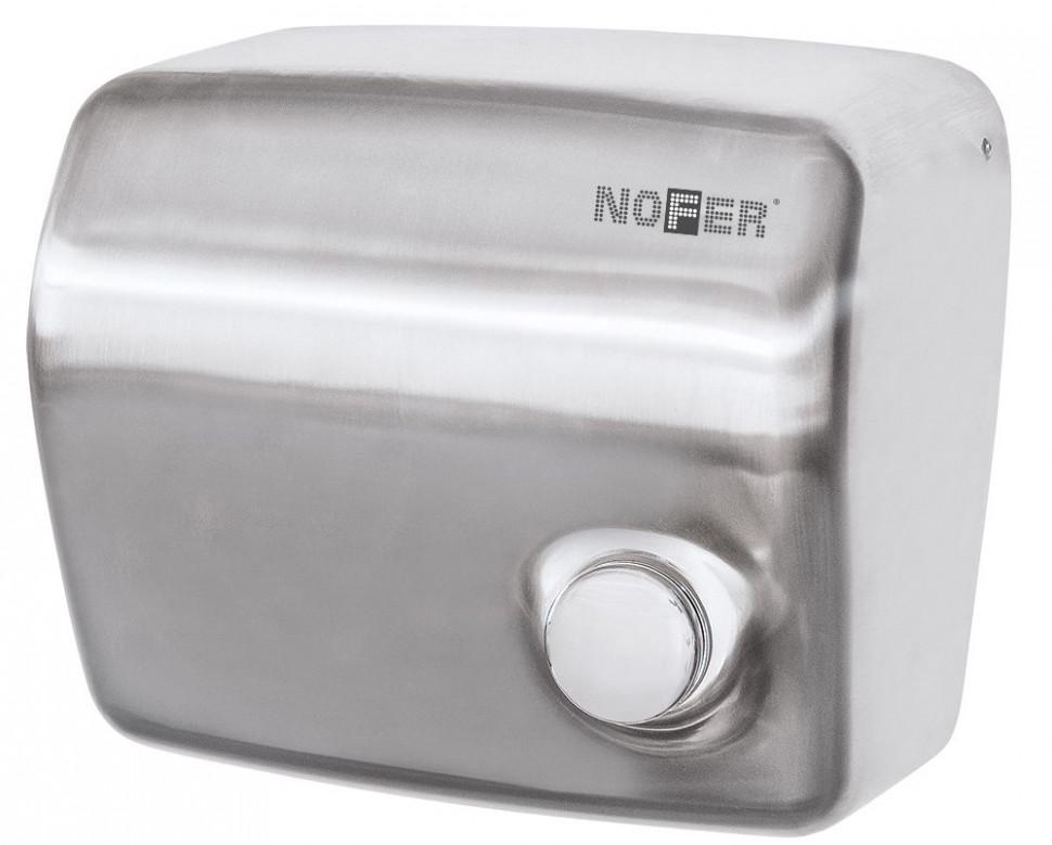 Сушилка для рук матовый хром Nofer Kai 01250.S автоматическая сушилка для рук nofer kai 1500 w глянцевая 01251 b