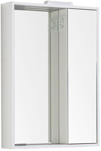Зеркальный шкаф 60х85 см с подсветкой белый Aquanet Клио 00189228 цена