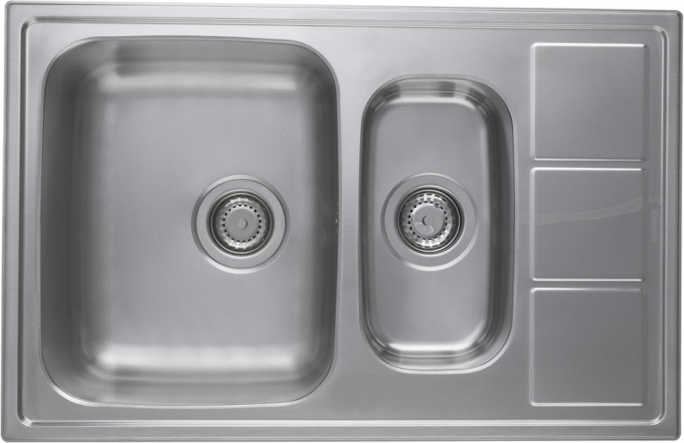 Кухонная мойка полированная сталь Longran Lotus LTP780.500 15XT8P longran lotus 945 w lin 945x510