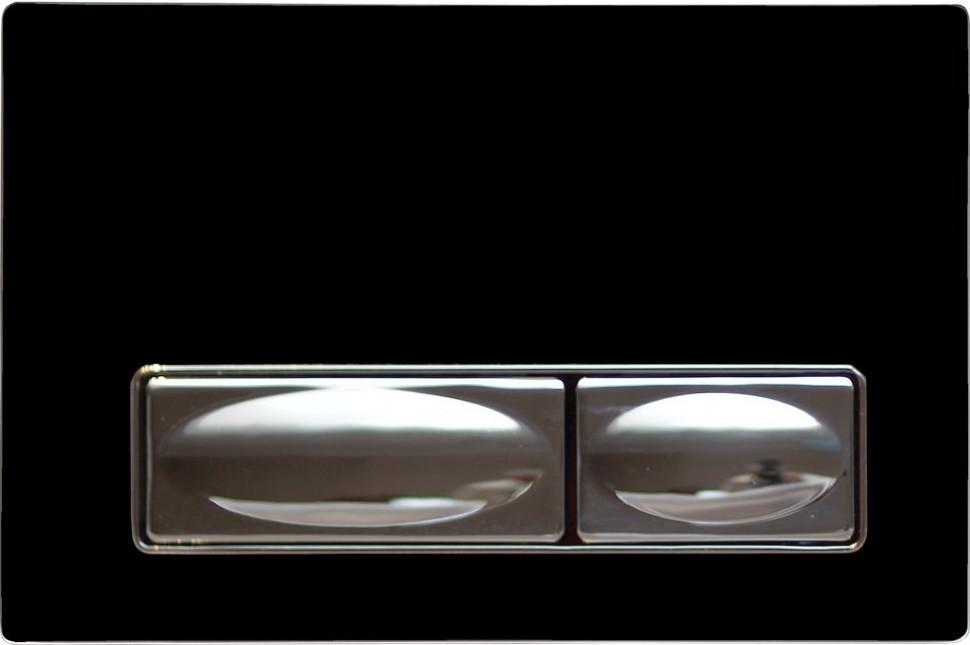 Смывная клавиша черный/хром Creavit Design Ozel GP400200 фото