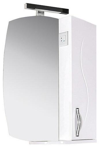 Зеркальный шкаф 60х80 см белый ASB-Mebel Грета