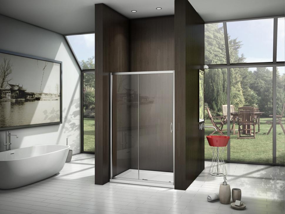 Душевая дверь 140 см Good Door Latte WTW-140-C-WE прозрачное