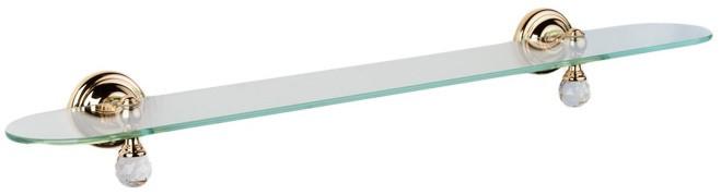 Полка стеклянная 60,5 см золото Tiffany World Crystal TWCR118oro-sw