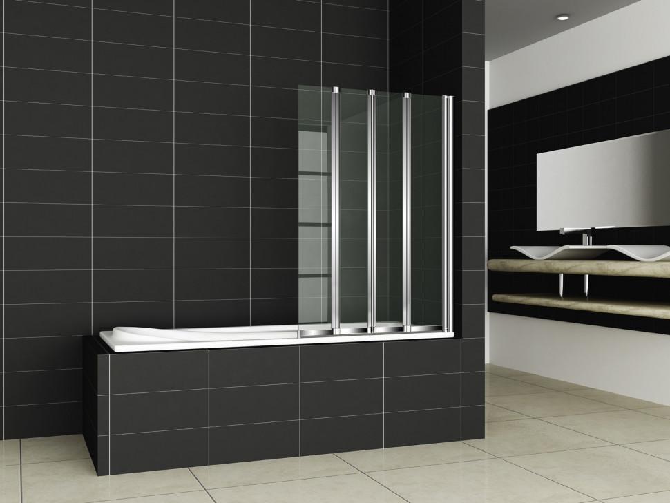Шторка для ванны Cezares Pratico 100 см текстурное стекло PRATICO-V-4-100/140-P-Cr-R цена