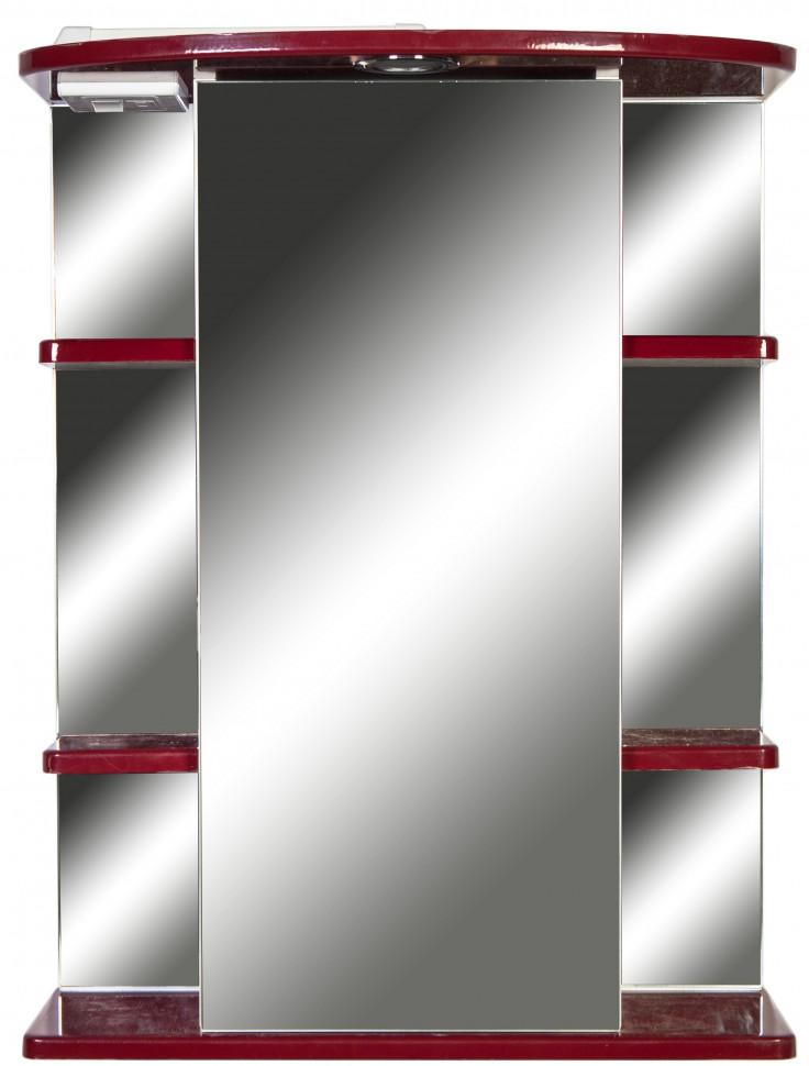 Зеркальный шкаф 55х72 см бордо глянец Orange Кларис Kl-55ZSC