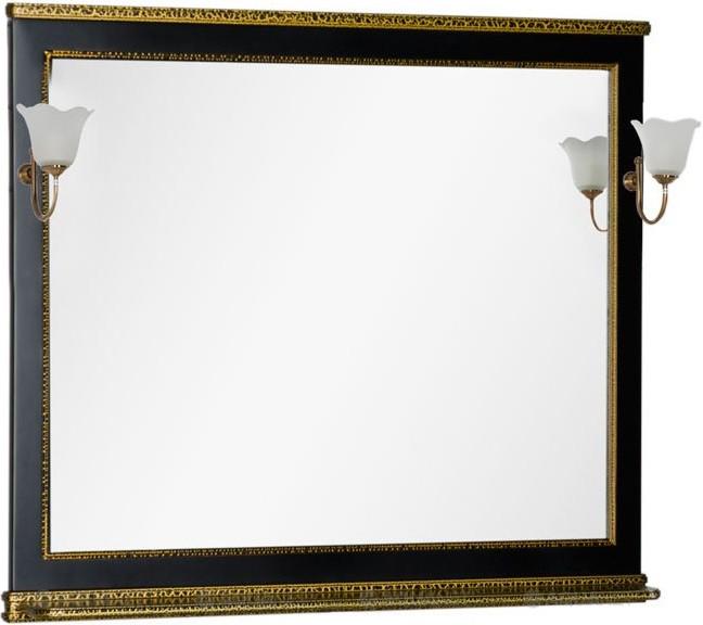 Зеркало 112,2х100 см черный Aquanet Валенса 00180295