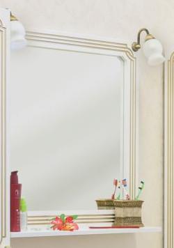 Зеркало 72,1х75,1 см белый золотая патина Sanflor Каир H0000000204