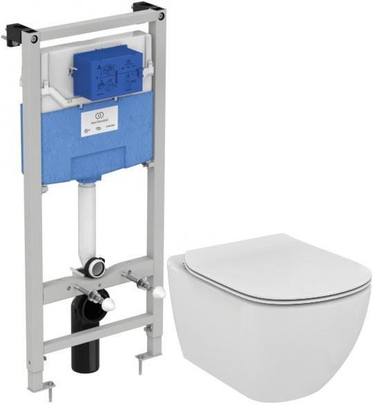 Фото - Комплект подвесной унитаз + система инсталляции Ideal Standard Prosys Tesi AquaBlade T386801 комплект подвесной унитаз ideal standard tesi t007901 t352701 система инсталляции grohe 38772001