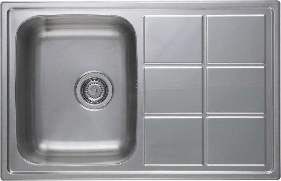 Кухонная мойка полированная сталь Longran Lotus LTP780.500 -XT8P longran lotus 945 w lin 945x510