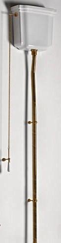 цена на Сливная труба для высокого бачка (труба из 3 частей) бронза Kerasan Waldorf 754793br