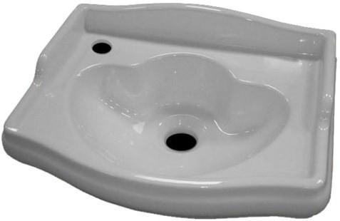 Раковина 41х32 см Kerasan Retro 103301*1SX kerasan мебель для ванной kerasan retro на двух ногах 100 см