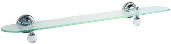 Полка стеклянная 60,5 см хром Tiffany World Crystal TWCR118cr-sw