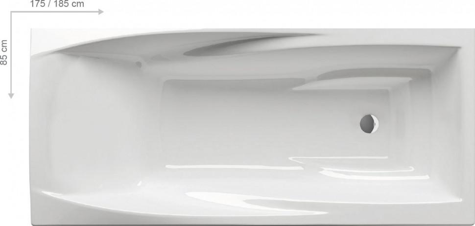 Акриловая ванна YOU 185x85 N без перелива Ravak C871200000 акриловая ванна classic 160x70 n ravak c531000000