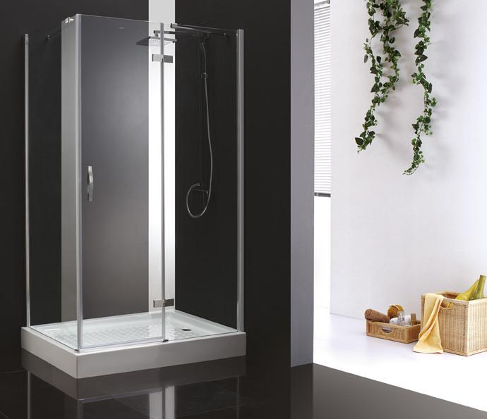 Душевой уголок Cezares Bergamo 90x100 см прозрачное стекло BERGAMO-W-AH-1-90/100-C-Cr-R