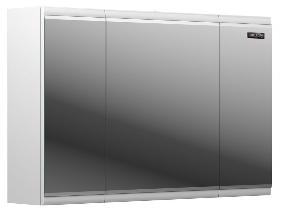 зеркальный шкаф edelform уника 100 белый с дуб гальяно 2 741 45 s Зеркальный шкаф белый глянец 95х61 см Edelform Forte 2-723-00-S