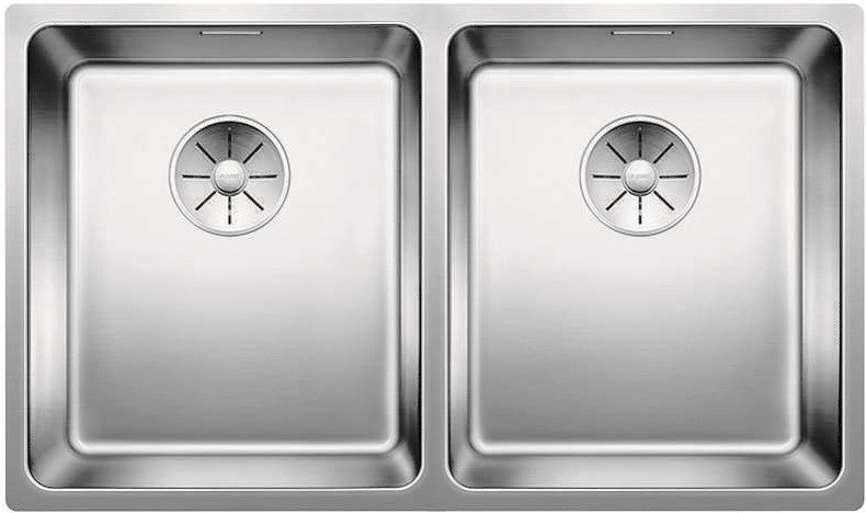 Кухонная мойка Blanco Andano 340/340-U InFino зеркальная полированная сталь 522983 фото