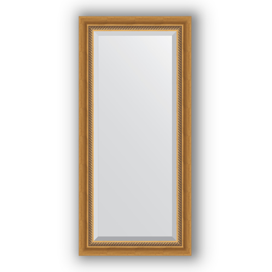 Зеркало 53х113 см состаренное золото с плетением Evoform Exclusive BY 3483
