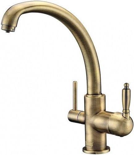 Смеситель для кухни с подключением к фильтру Zorg Sanitary ZR 315 YF-33 BR